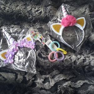 Other - Unicorn kit... 2 headbands, 4 hair spirals.....